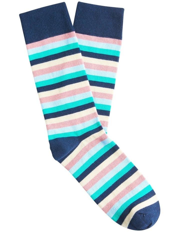 Multi Stripe 1 Pk Socks image 1