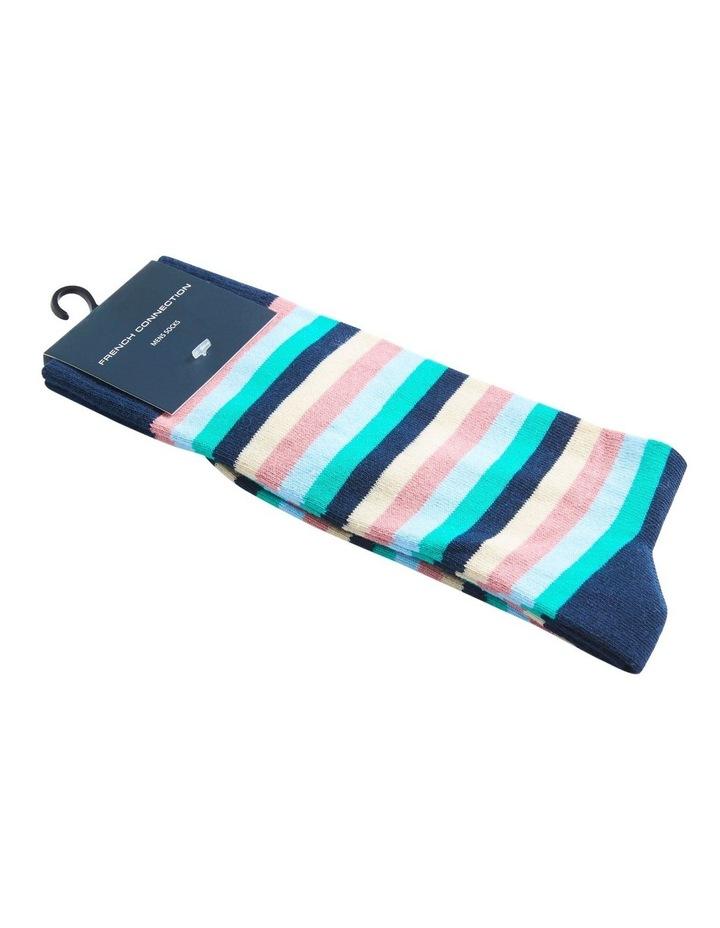 Multi Stripe 1 Pk Socks image 2