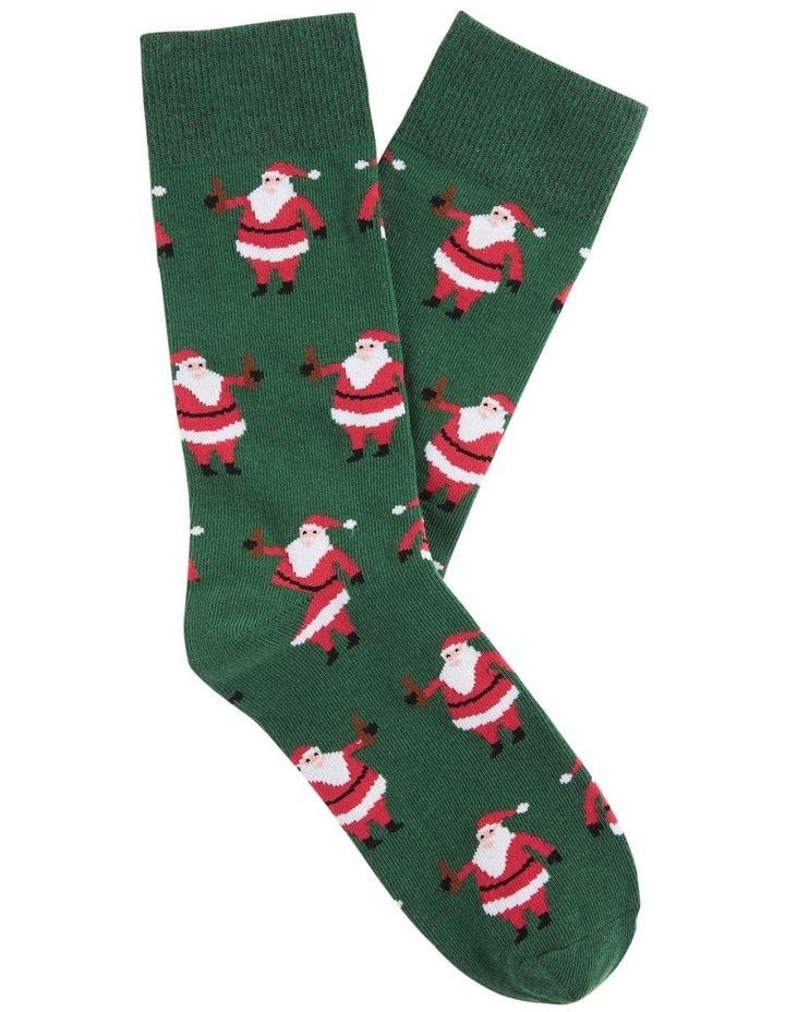 Santa 1 Pk Socks image 1
