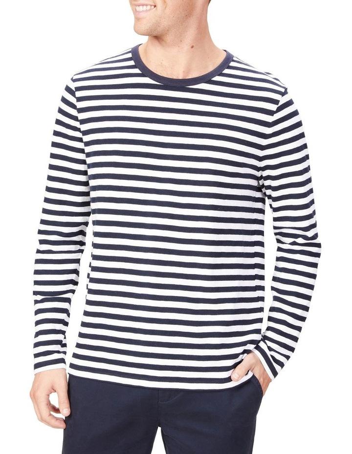 Stripe Slub Long Sleeve T Shirt image 1