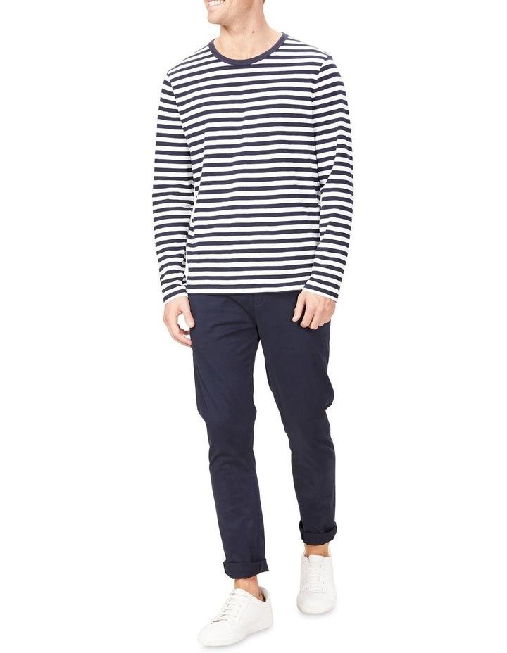 Stripe Slub Long Sleeve T Shirt image 2