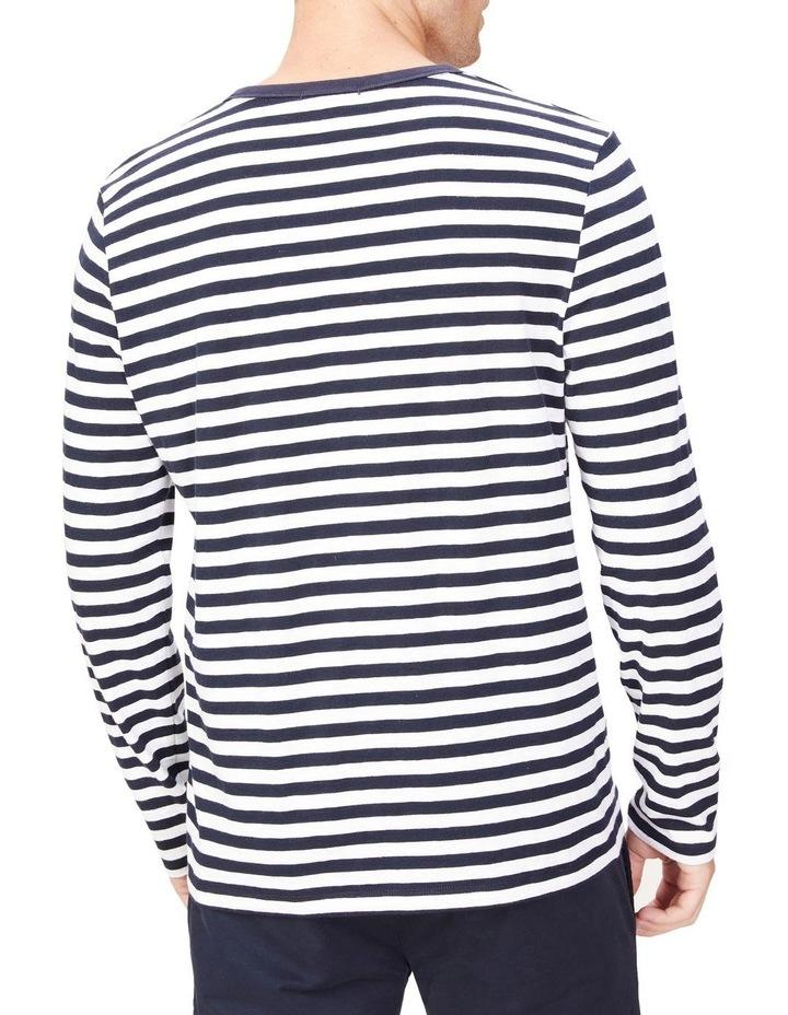Stripe Slub Long Sleeve T Shirt image 3