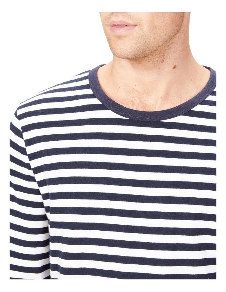 Stripe Slub Long Sleeve T Shirt image 4