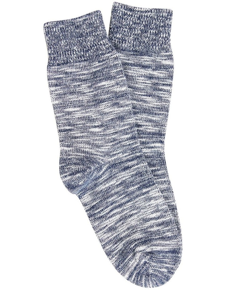 Textured Knit 1 Pk Socks image 1