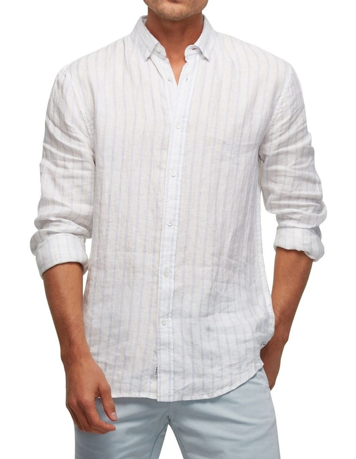 The Avenue Linen Long Sleeve Shirt image 1