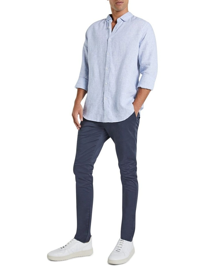 The St Lucia Linen Long Sleeve Shirt image 1