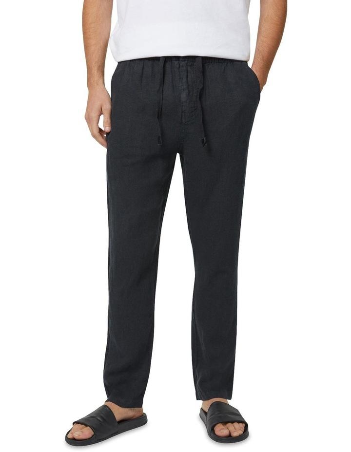 The Santorini Linen Pant - Black image 1