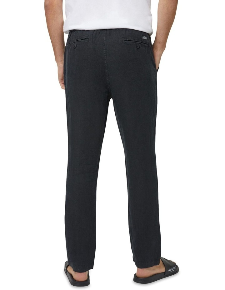 The Santorini Linen Pant - Black image 4