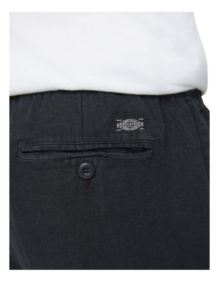 The Santorini Linen Pant - Black image 5