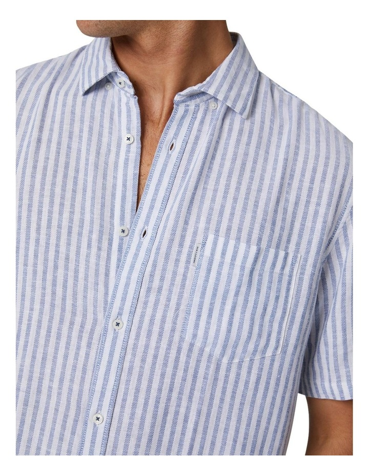 The Wharf Short Sleeve Shirt - Bluewhite image 4