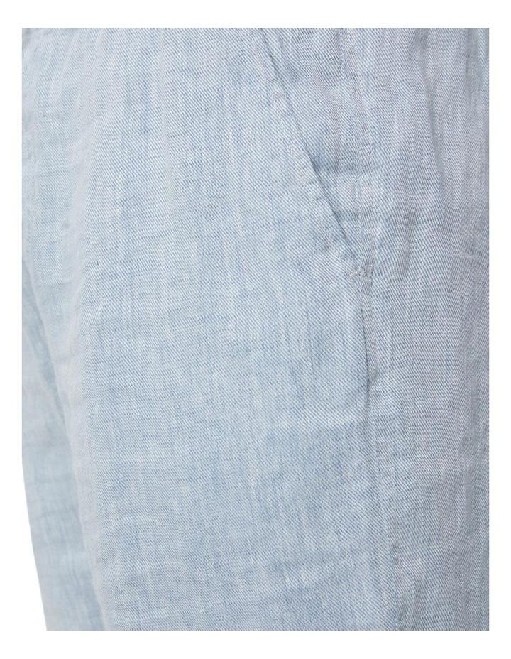 The Agora Linen Short - Chambray image 6