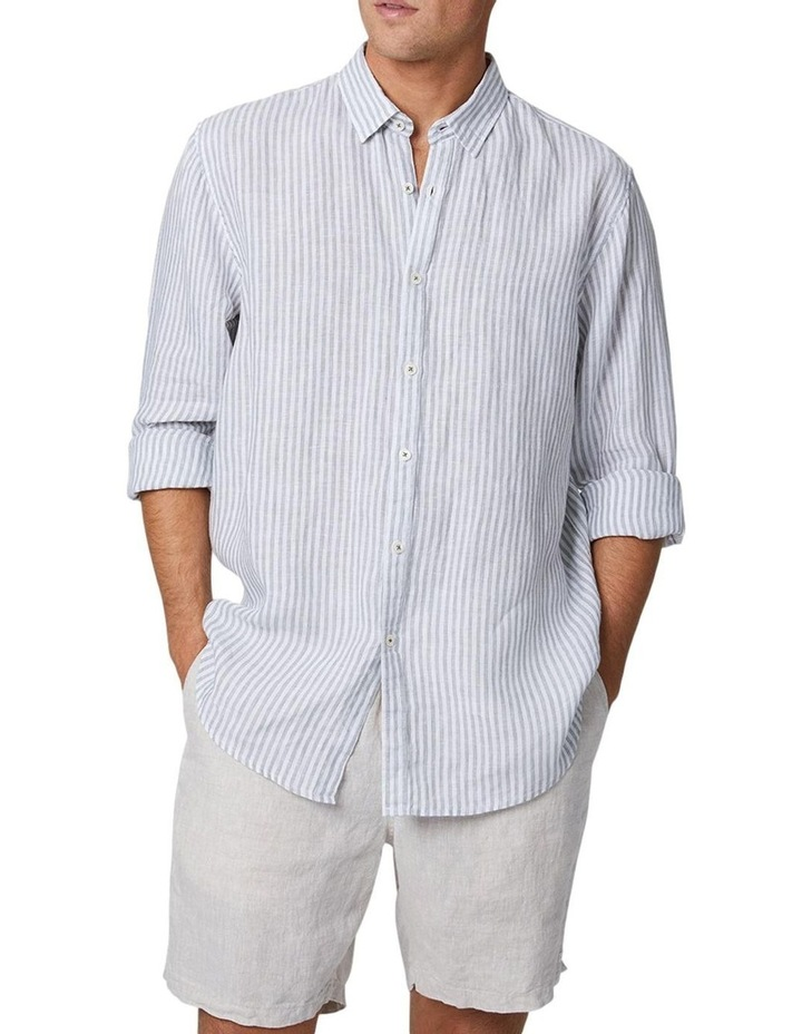 The Southwest Linen Long Sleeve Shirt - Sage image 1