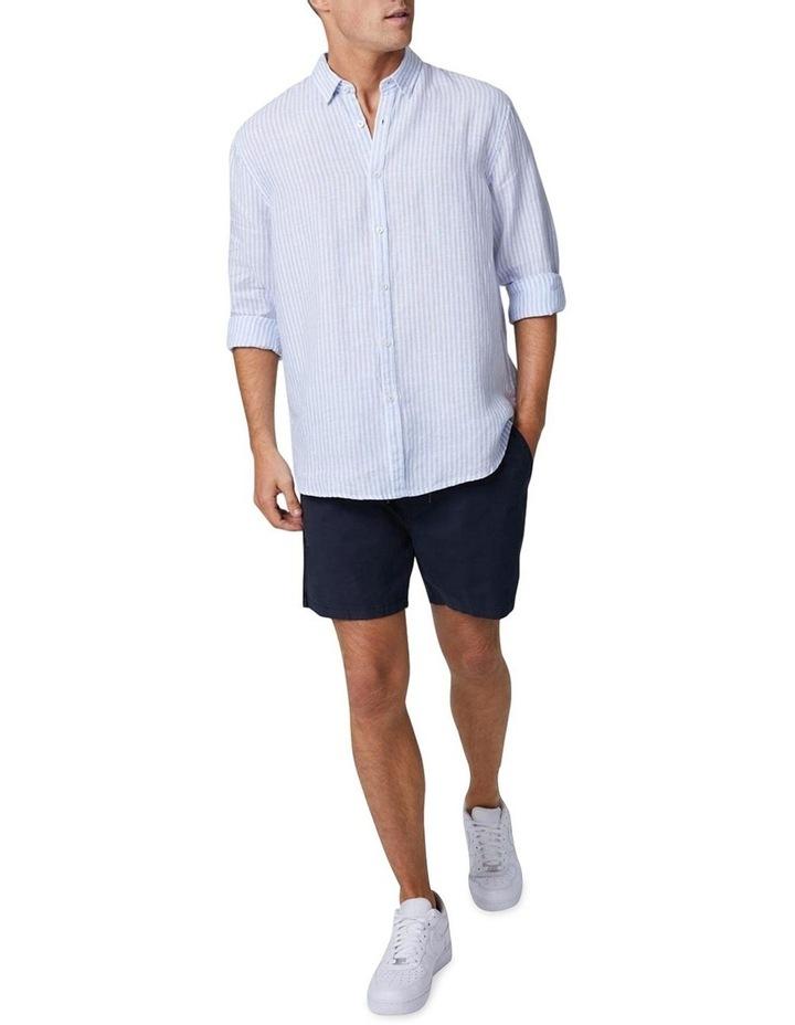 The Southwest Linen Long Sleeve Shirt - Chambray White image 1