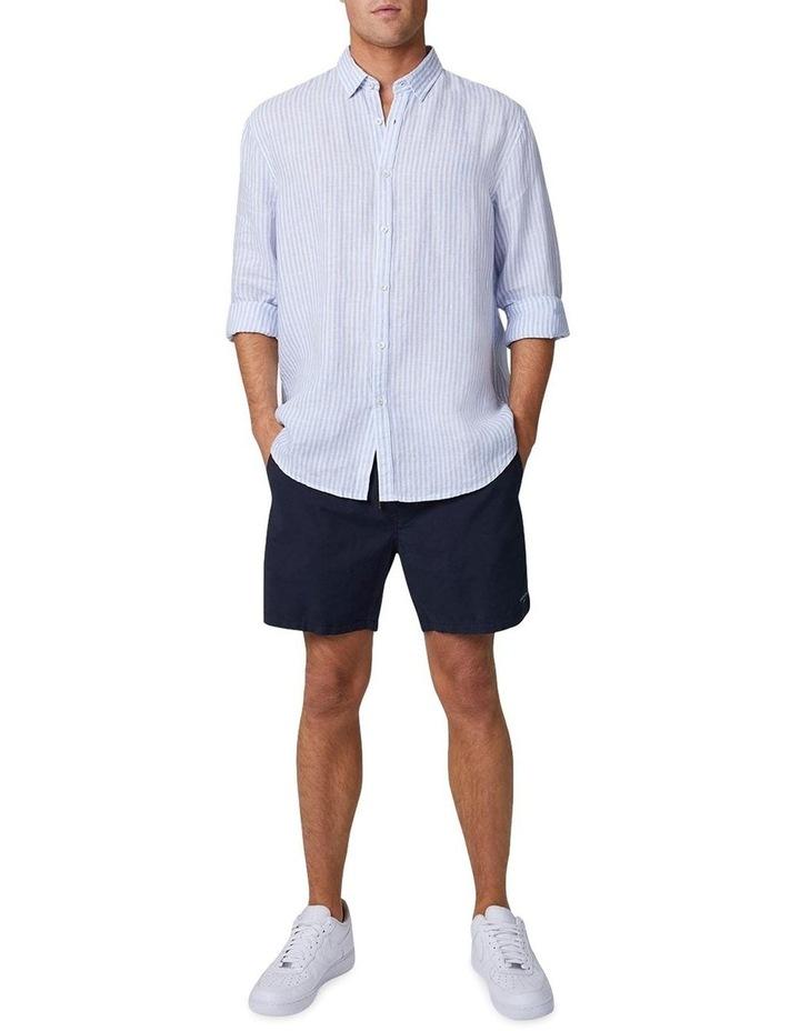 The Southwest Linen Long Sleeve Shirt - Chambray White image 2