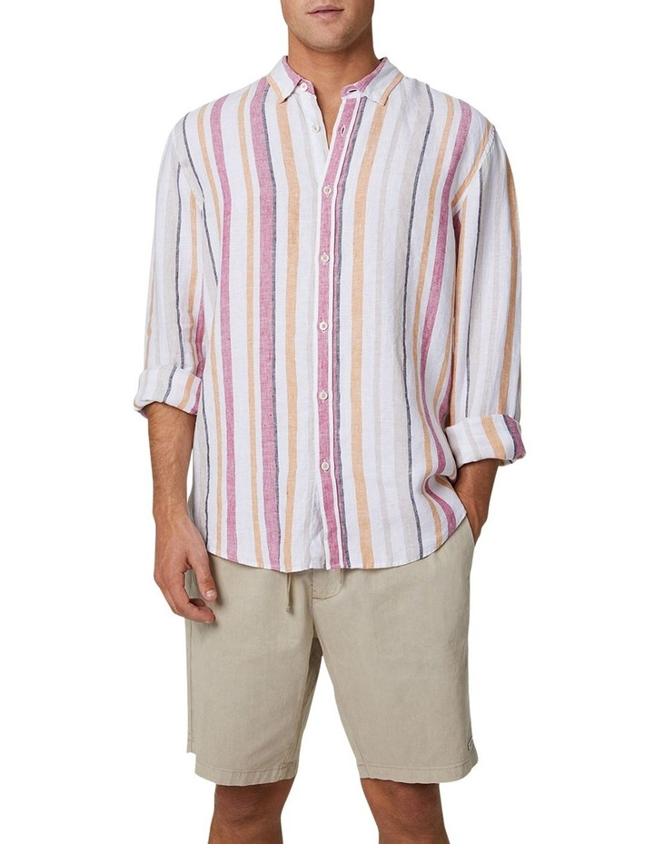 The Monterrico Linen Long Sleeve Shirt - Multi image 1