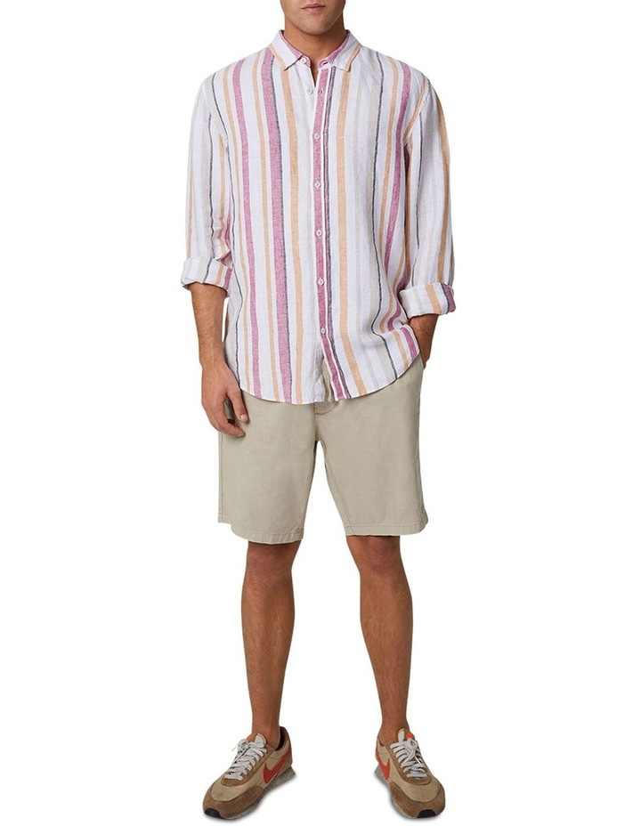 The Monterrico Linen Long Sleeve Shirt - Multi image 2