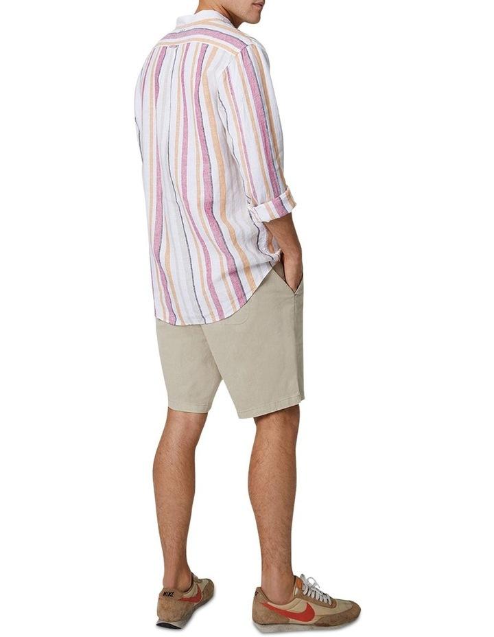 The Monterrico Linen Long Sleeve Shirt - Multi image 3