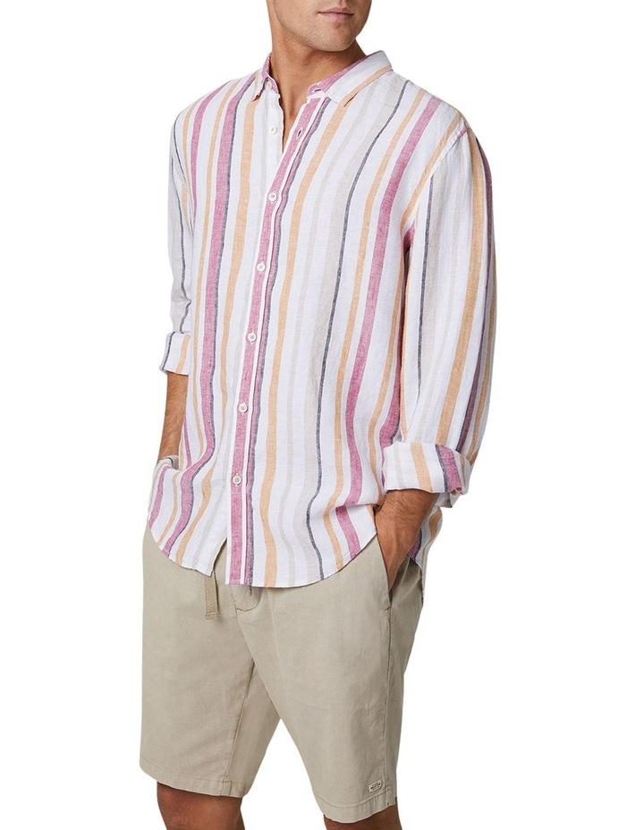 The Monterrico Linen Long Sleeve Shirt - Multi image 4