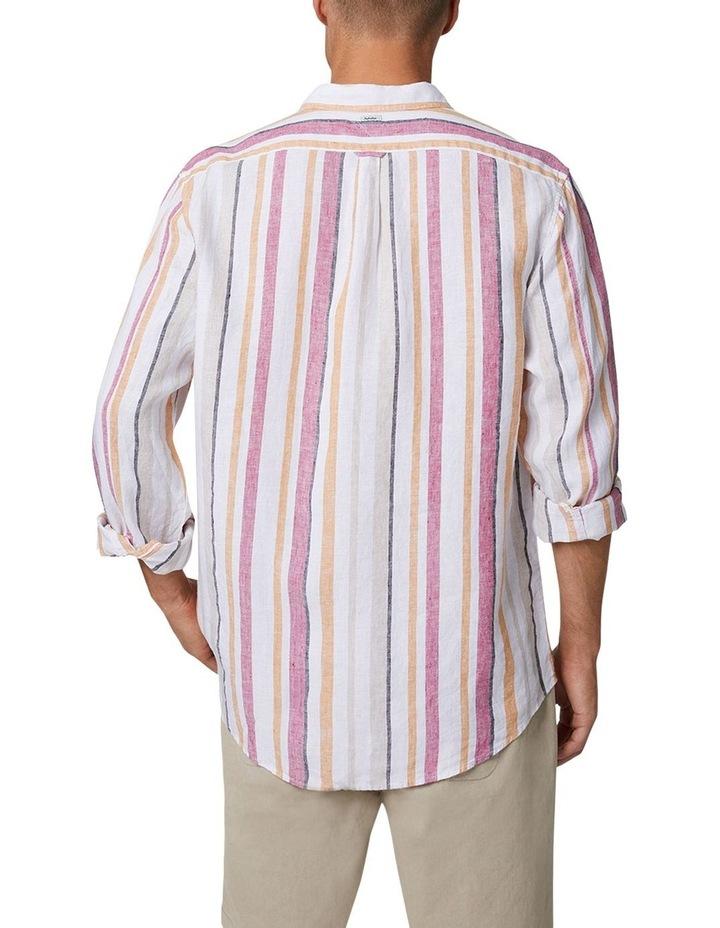 The Monterrico Linen Long Sleeve Shirt - Multi image 5