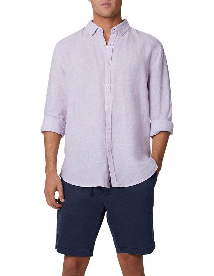 The Palmetto Long Sleeve Shirt - Rose/Chambray image 1