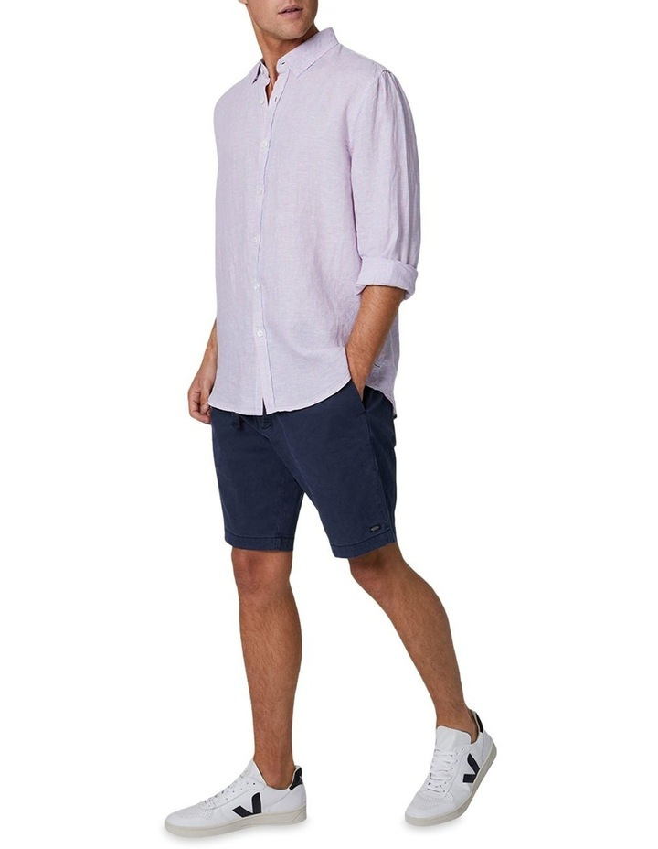 The Palmetto Long Sleeve Shirt - Rose/Chambray image 2