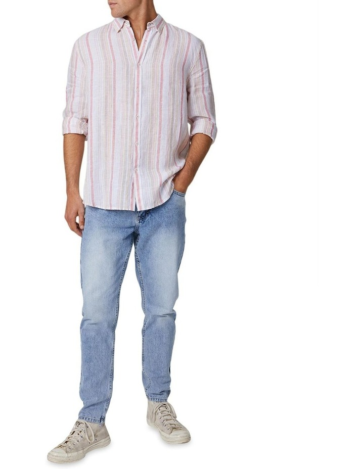 The Amalfi Long Sleeve Shirt - Peach image 1