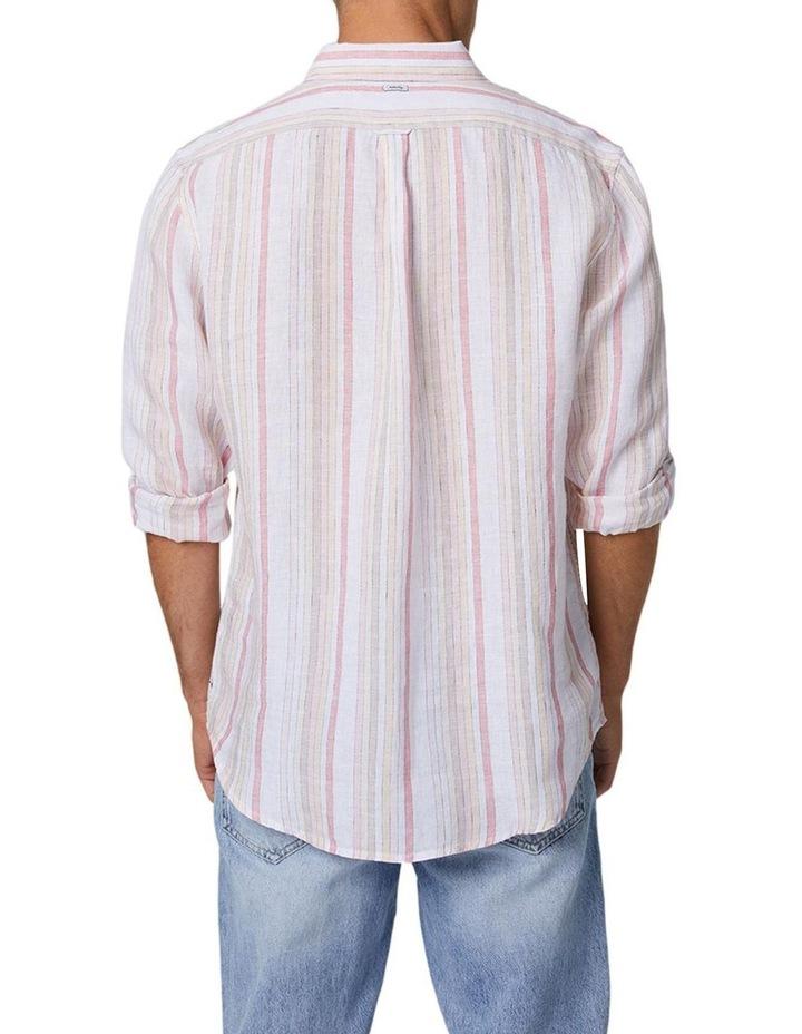 The Amalfi Long Sleeve Shirt - Peach image 3