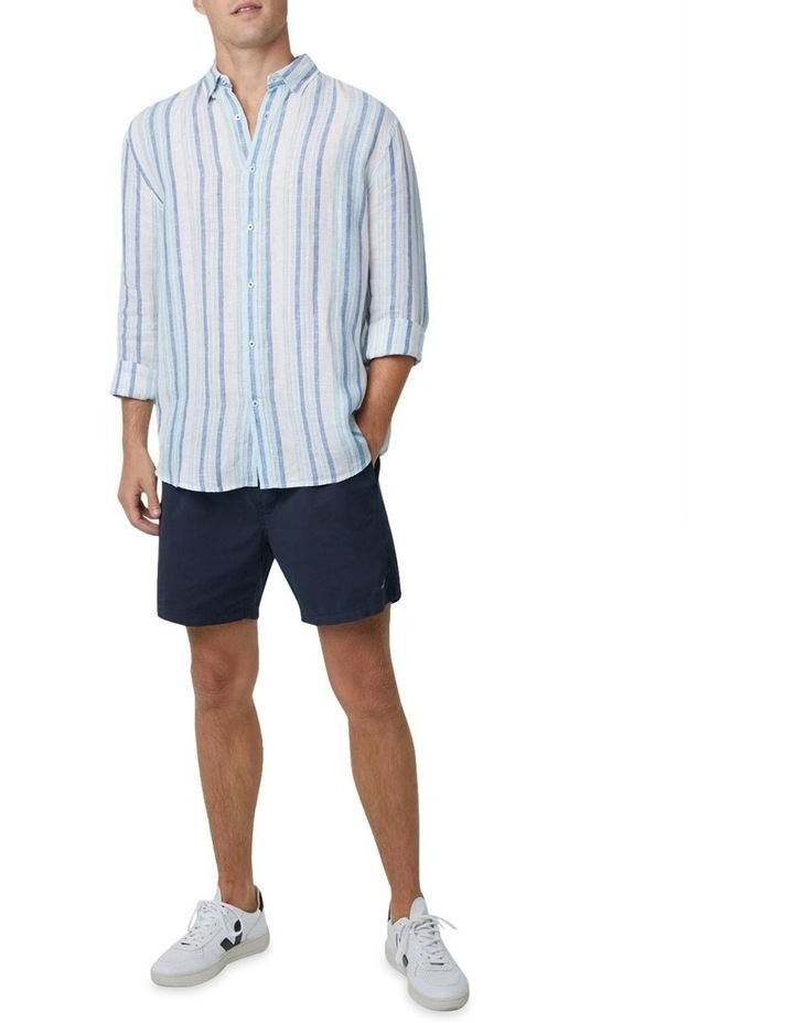 The Amalfi Long Sleeve Shirt - Marine image 2