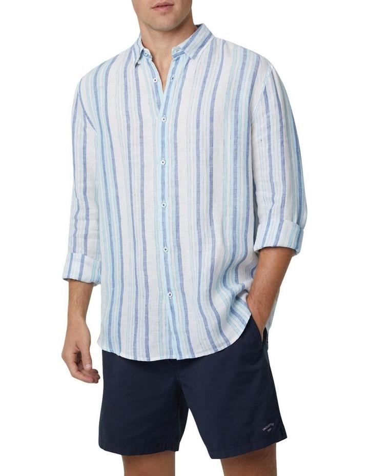 The Zion Short Sleeve Shirt - White Navy image 1