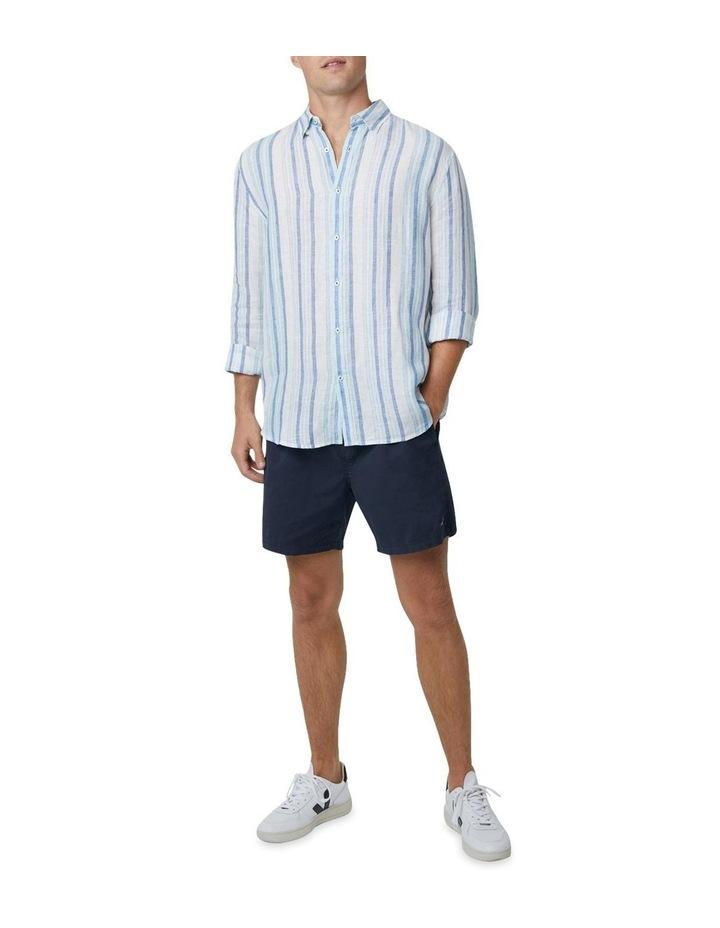 The Zion Short Sleeve Shirt - White Navy image 2