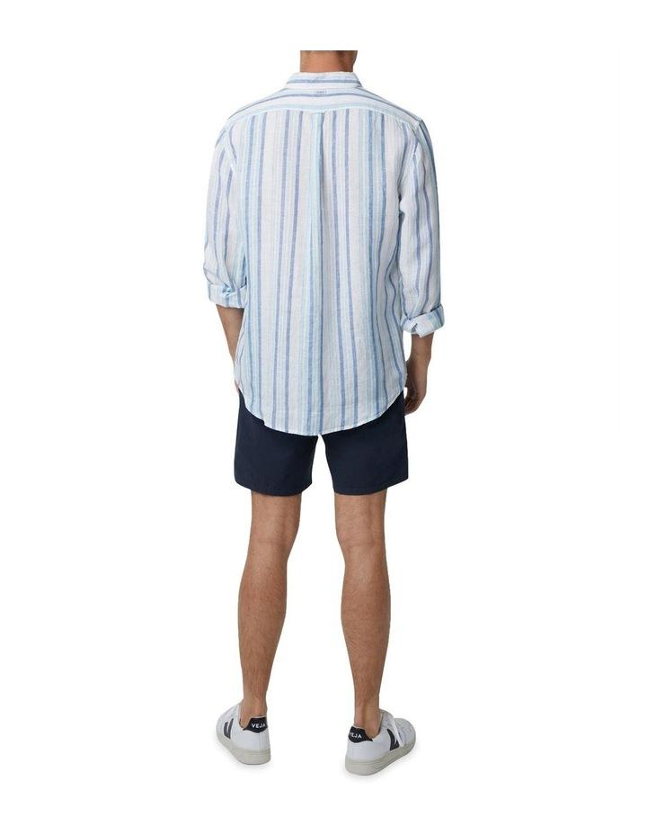 The Zion Short Sleeve Shirt - White Navy image 3