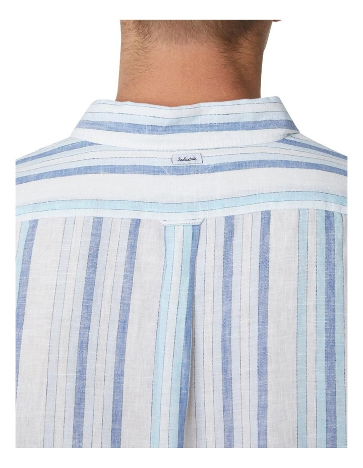 The Zion Short Sleeve Shirt - White Navy image 4