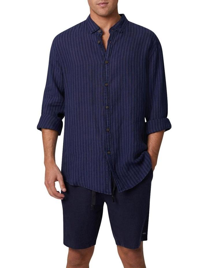 The Camnen Long Sleeve Shirt - Navy image 1
