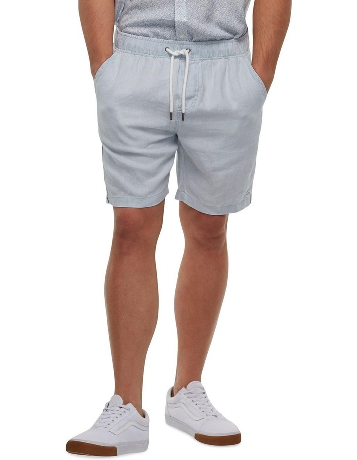 The Marina Linen Short - chambray image 1