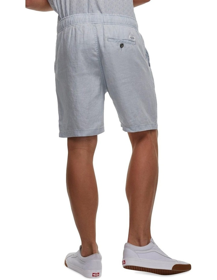 The Marina Linen Short - chambray image 2