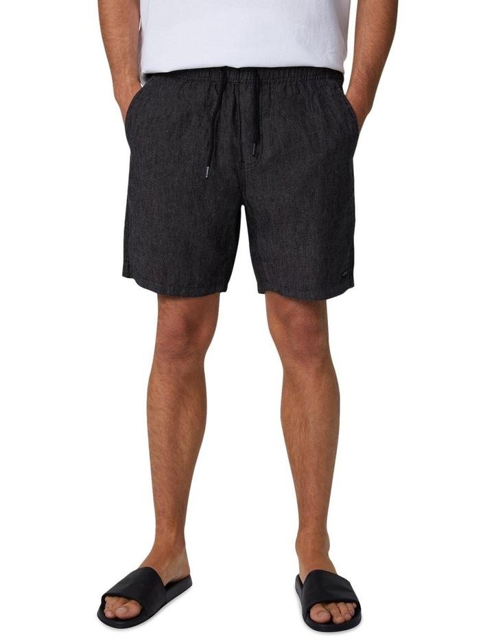 The Marina Linen Short - Charcoal image 1