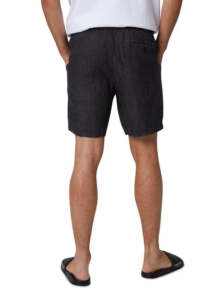 The Marina Linen Short - Charcoal image 2