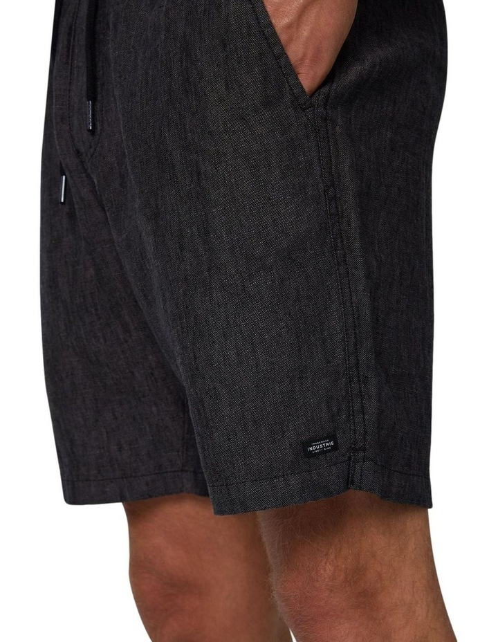 The Marina Linen Short - Charcoal image 5