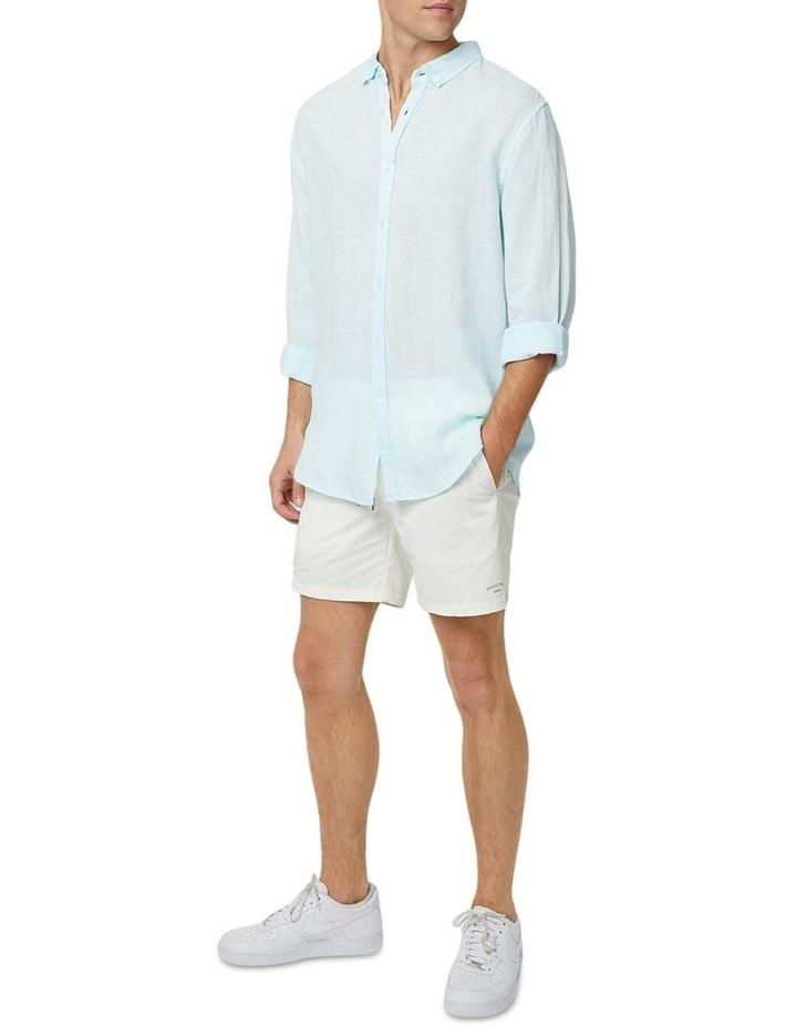 The Tennyson Linen Long Sleeve Shirt - Aqua image 2