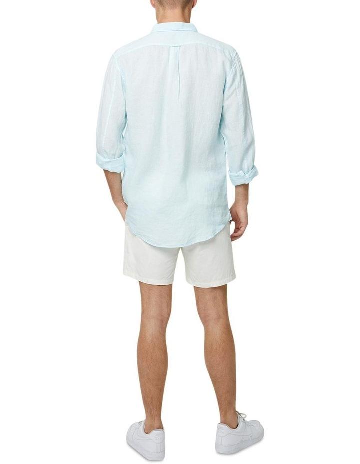 The Tennyson Linen Long Sleeve Shirt - Aqua image 3