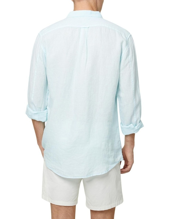 The Tennyson Linen Long Sleeve Shirt - Aqua image 4