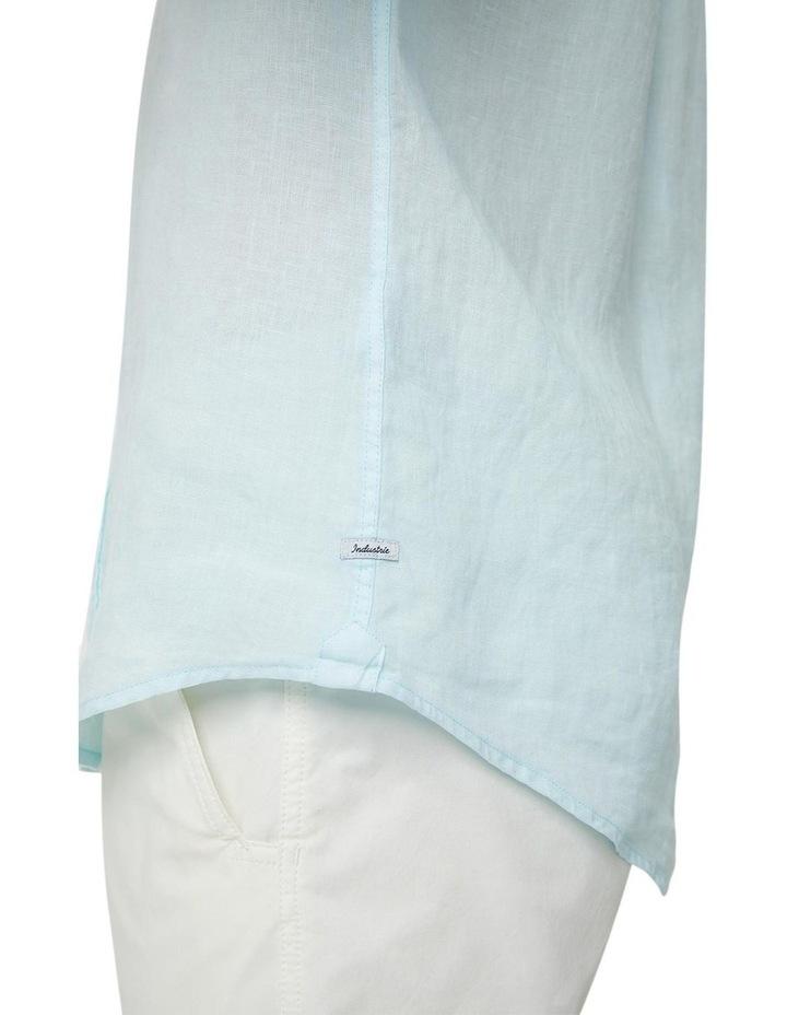 The Tennyson Linen Long Sleeve Shirt - Aqua image 5