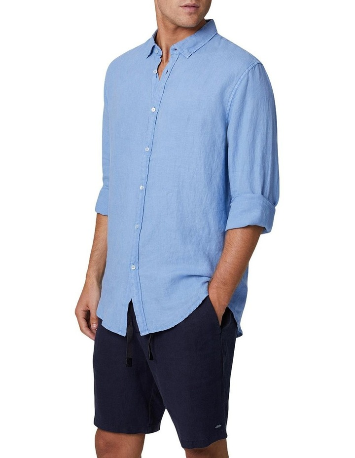 The Tennyson Linen Long Sleeve Shirt - Denim image 1