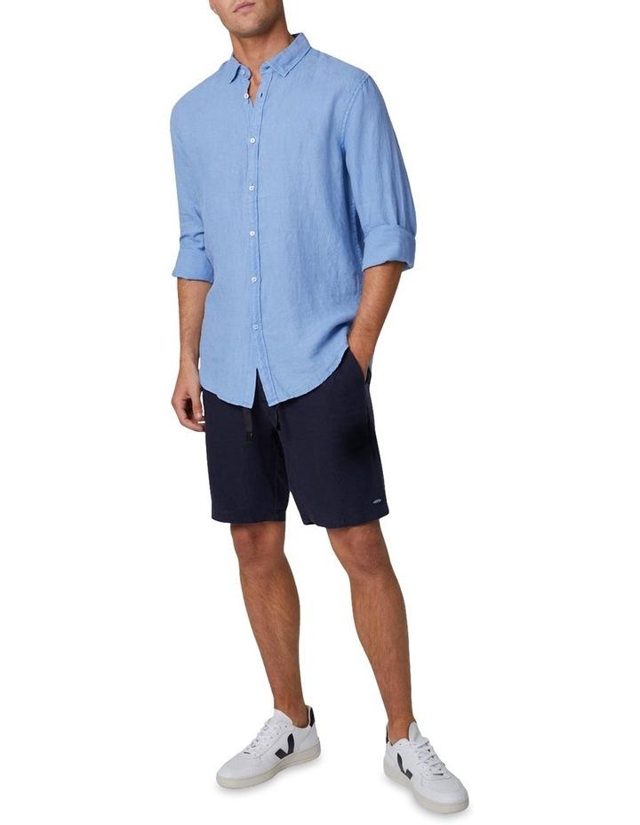 The Tennyson Linen Long Sleeve Shirt - Denim image 2