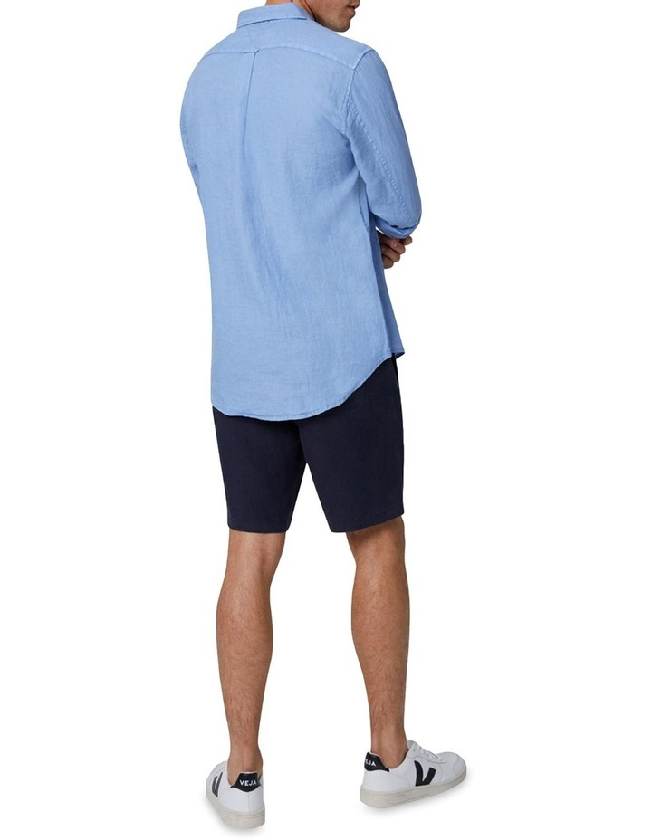 The Tennyson Linen Long Sleeve Shirt - Denim image 3