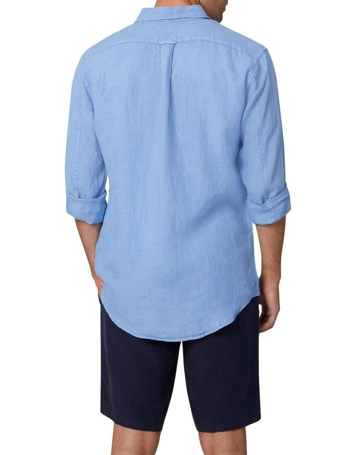 The Tennyson Linen Long Sleeve Shirt - Denim image 4