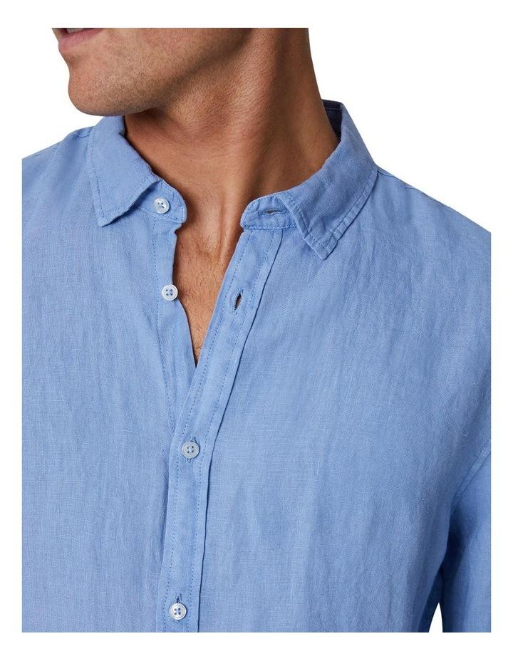 The Tennyson Linen Long Sleeve Shirt - Denim image 5
