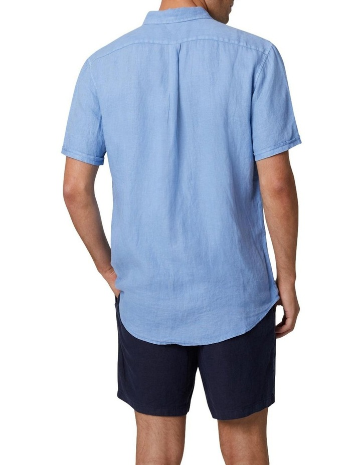 The Tennyson Linen Short Sleeve Shirt - Denim image 4