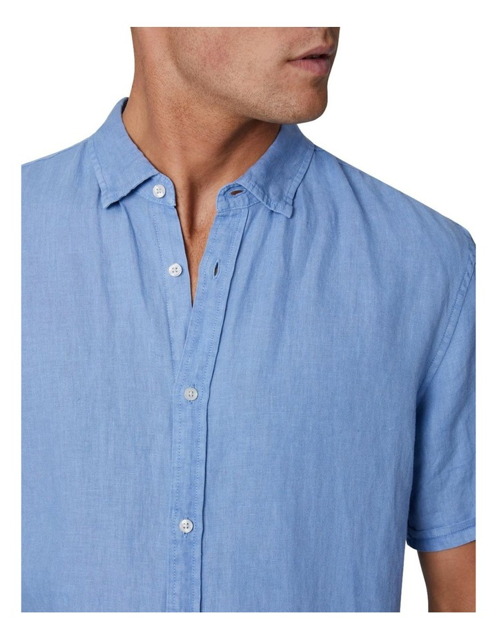The Tennyson Linen Short Sleeve Shirt - Denim image 5