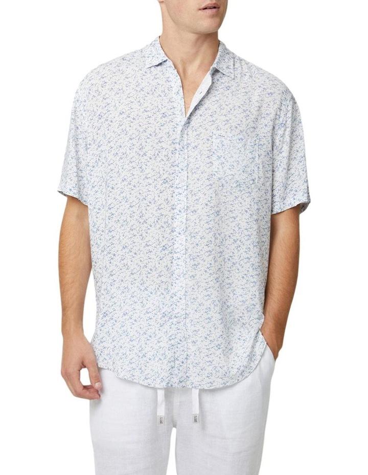 The Mandalay Short Sleeve Shirt - White Light Blue image 1
